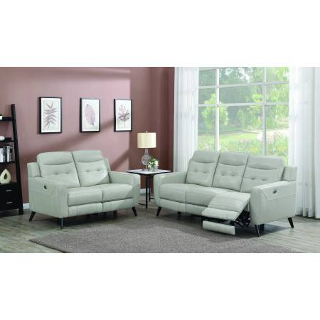 Lantana 2-Piece Power Living Room Set Beige 603381P-S2