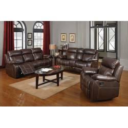 Myleene 3 Piece Reclining Living Room Set 3PC (SOFA + LOVE + RECLINER) 603021-S3