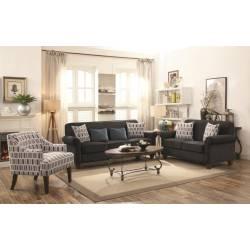 Gideon Graphite Three-Piece Living Room Set 506404-S3