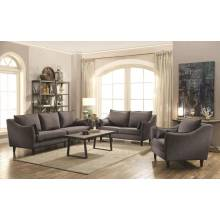 Rhys Modern Charcoal Three-Piece Living Room Set 506111-S3