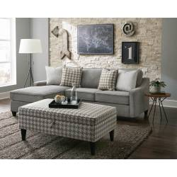 Montgomery Upholstered Sectional Charcoal 501697