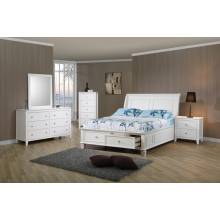 Selena Coastal White Full Bed 5PC SET (F.BED,NS,DR,MR,CH) 400239F-S5