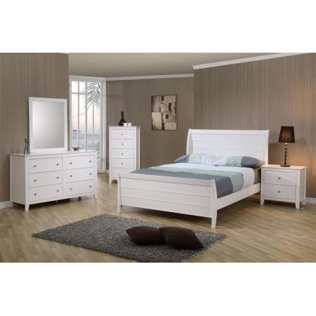Selena Full Sleigh Bed 4PC SET (F.BED,NS,DR,MR) 400231F-S4