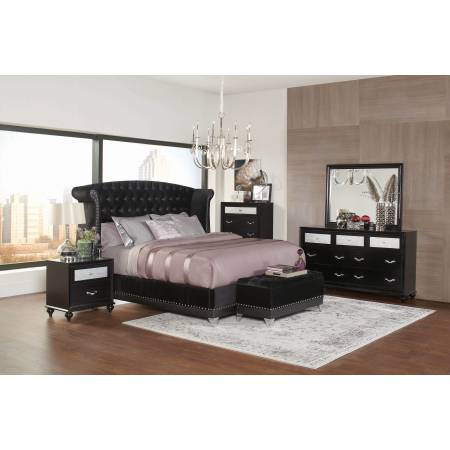 Barzini California King Bed 4 PC SET 300643KW-S4