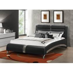 Havering Contemporary Black And White Upholstered Eastern King BEDROOM 4PC SET (KE.BED,NS,DR,MR) 300350KE-S4