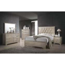 Beaumont  Bedroom KE 4PC SET (KE.BED,NS,DR,MR) 205291KE-S4