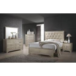 Beaumont  Bedroom Q 4PC SET (Q.BED,NS,DR,MR) 205291Q-S4