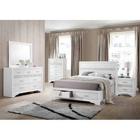 Miranda Contemporary White California King Four-Piece Set 205111KW-S4