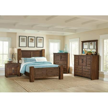 Sutter Creek Rustic Vintage Bourbon Queen Five-Piece Set 204531Q-S5