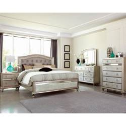 Bling Game 5 Piece King Bedroom Collection (KE.BED,NS,DR,MR,CH) 204181KE-S5
