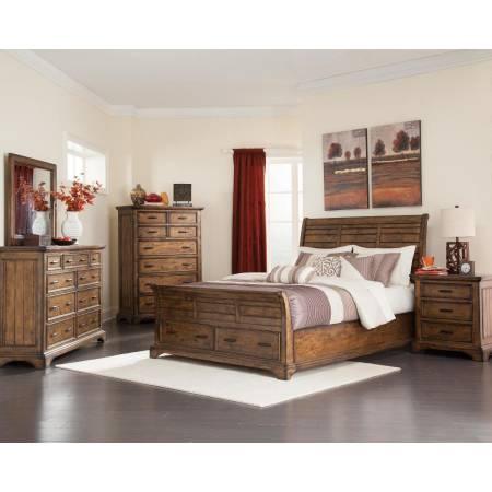 Elk Grove California King Sleigh Storage Bed 5 Piece Set (KW.BED,NS,DR,MR,CH) 203891KW-S5