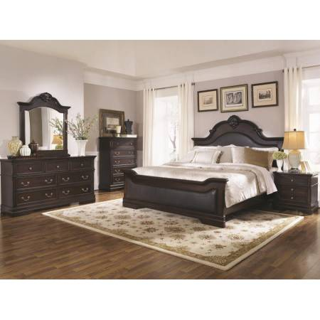 Cambridge Queen Upholstered Bed 4 Piece Set (Q.BED,NS,DR,MR) 203191Q-S4