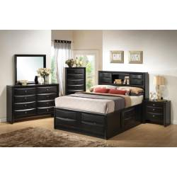 Briana California King Storage Bed 5 Piece Set (KW.BED,NS,DR,MR,CH) 202701KW-S5