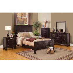 Sandy Beach Cappuccino California King Five-Piece Bedroom Set 201991KW-S5