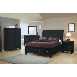 Sandy Beach Queen Sleigh Storage Bed 5 Piece Set (Q.BED,NS,DR,MR,CH) 201329Q-S5