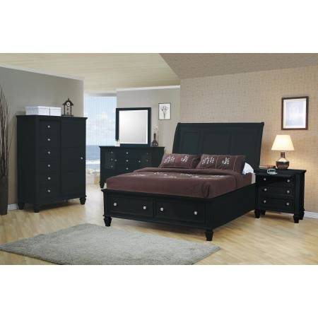 Sandy Beach King Sleigh 5 Piece King Bedroom Collection (KE.BED,NS,DR,MR,CH) 201329KE-S5