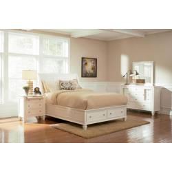 Sandy Beach Queen Sleigh Storage Bed 4 Piece Set (Q.BED,NS,DR,MR) 201309Q-S4
