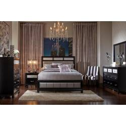 Barzini Queen Panel Bed 5 Piece Set (Q.BED,NS,DR,MR,CH) 200891Q-S5