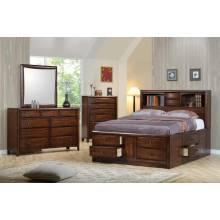Hillary and Scottsdale Cappuccino California King Four-Piece Bedroom Set 200609KW-S4