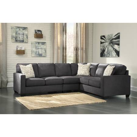 16601 Alenya LAF Loveseat + Armless Chair + RAF Sofa