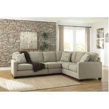 16600 Alenya LAF Loveseat + Armless Chair + RAF Sofa