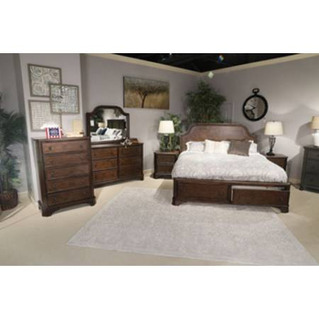 B517 Adinton 4PC SETS Cal King Panel Bed