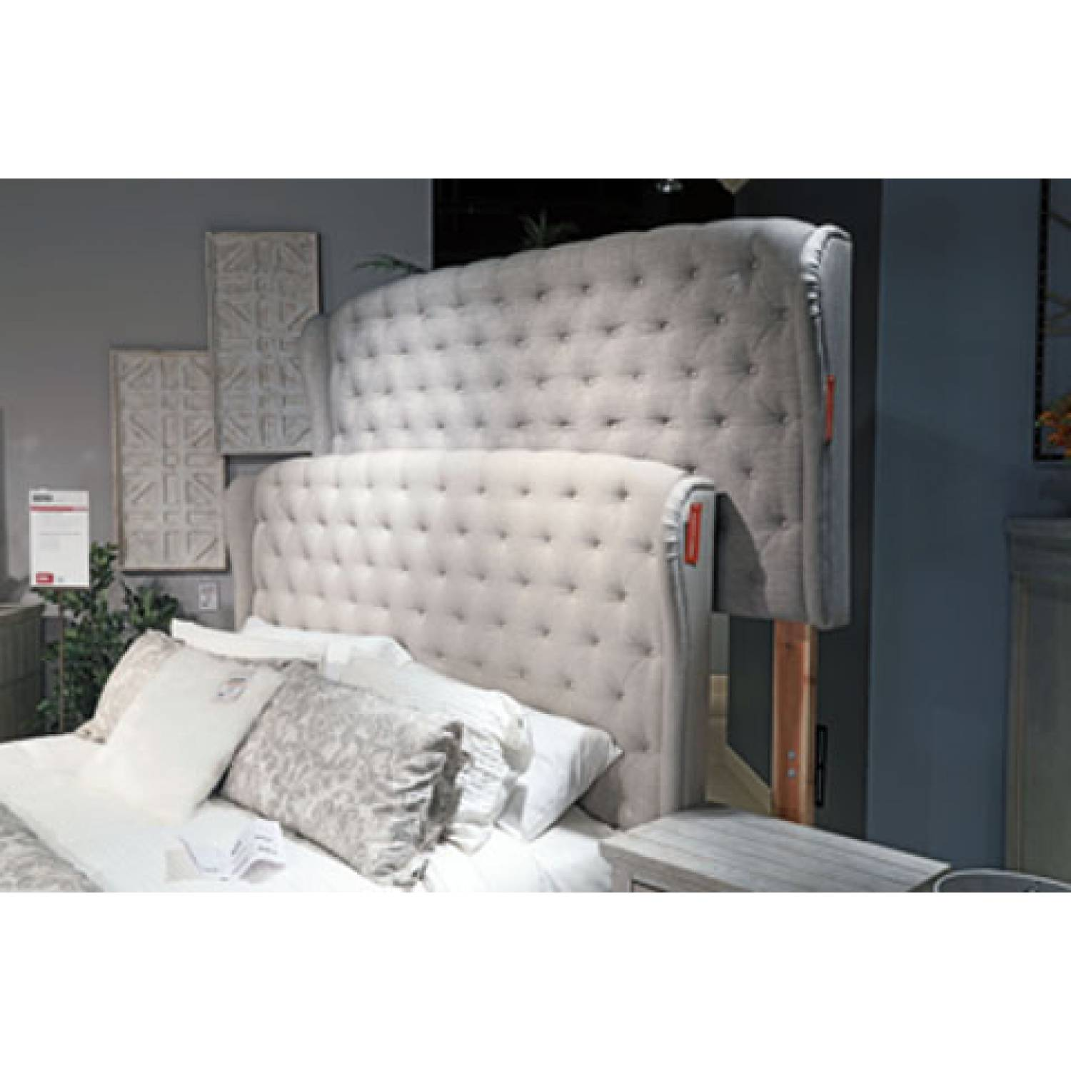 B090 Jerary King Upholstered Bed Gray B090 982