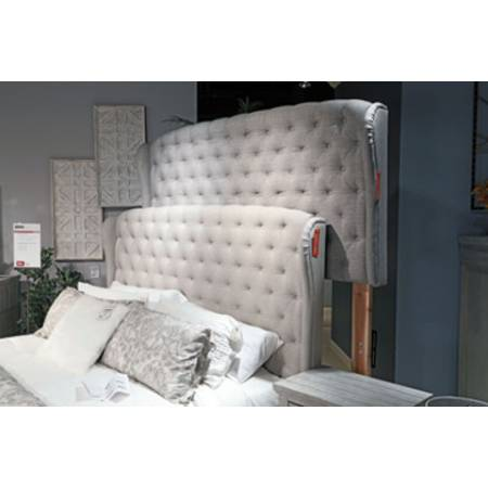 B090 Jerary Queen Upholstered Bed Gray (B090-981)