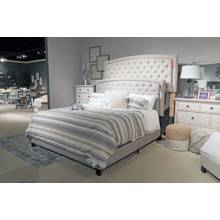 B090 Jerary Queen Upholstered Bed Gray
