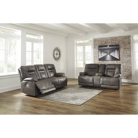 U54602 Wurstrow 2PC SETS PWR REC Sofa with ADJ Headrest + PWR REC Loveseat/CON/ADJ HDRST