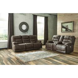 54303 Welsford 2PC SETS PWR REC Sofa with ADJ Headrest + PWR REC Loveseat/CON/ADJ HDRST