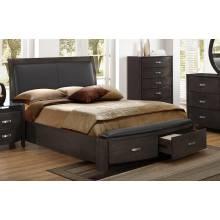 Lyric Upholstered Sleigh Platform Storage Queen Bed - Brownish Grey