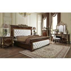 HD-1803-EK-5PC 5PC SETS Eastern King Bed + Nightstand + Dresser + Mirror + Chest