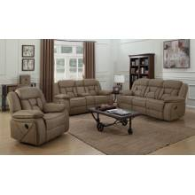 602264-S3 3PC SETS MOTION SOFA + MOTION LOVESEAT WITH CONSOLE + GLIDER RECLINER