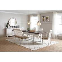 105181+105182*2+105183*2+105186 6PC SETS DINING TABLE + 2 SIDE CHAIRS + 2 ARM CHAIRS + BENCH