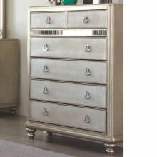 204185 Bling Game Chest with 6 Drawers and Stacked Bun Feet
