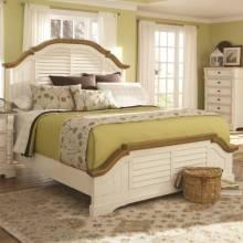 202880Q Oleta Queen Panel Bed with Shutter Detail