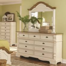 202883+4 Oleta 9 Drawer Dresser and Mirror Set with Pilaster Detail