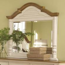 202884 Oleta Mirror with Arched Frame and Shutter Detail