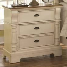 202882 Oleta Night Stand with 3 Drawers and Bracket Feet