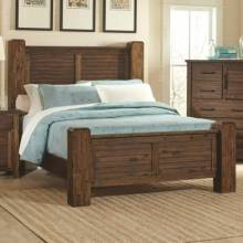 204531Q Sutter Creek Queen Bed with Block Posts