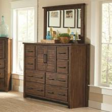 204533+204534 Sutter Creek Tall Dresser with 2 Doors & Mirror