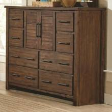 204533 Sutter Creek Tall Dresser with 2 Doors & Wire Brushed Acacia Veneer