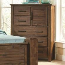 204535 Sutter Creek Chest with Door & Wire Brushed Acacia Veneer