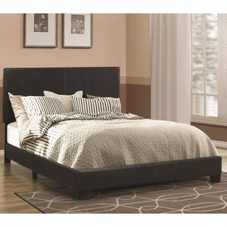 300761F Dorian Black Upholstered Leatherette Full Bed
