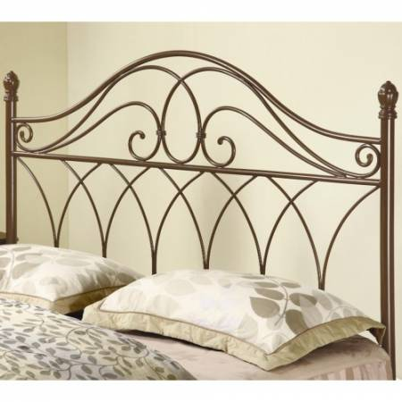 300186QF Iron Beds and Headboards Full/Queen Brown Metal Headboard