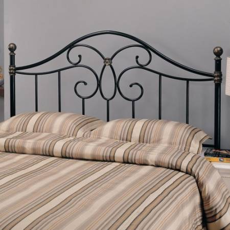 300182QF Iron Beds and Headboards Full/Queen Black Metal Headboard