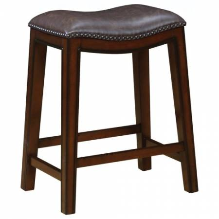 122263 Dining Chairs and Bar Stools Backless Counter Height Stool with Nailhead Accents