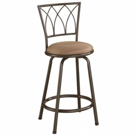 """122019 Dining Chairs and Bar Stools 24"""" Metal Bar Stool with Upholstered Seat"""