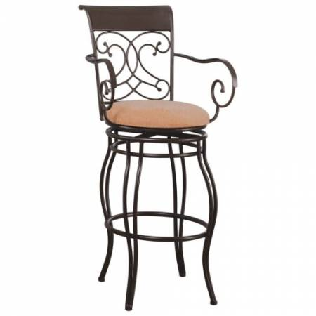 """120019 Dining Chairs and Bar Stools 29"""" Metal Bar Stool with Upholstered Seat"""